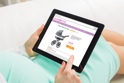 Pregnant Woman Shopping Online